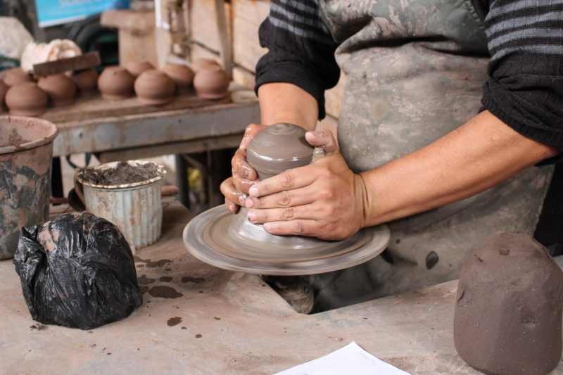 Pottery studio in Cuenca, Ecuador