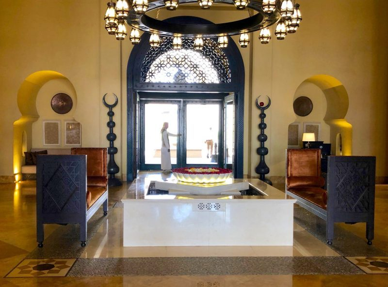 Lobby at Qasr Al Sarab, Abu Dhabi